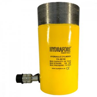 Single Acting Cylinder with collar threads (50 ton - 150 mm) (YG-50150CT)
