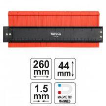 YATO Magnetic Contour Profile Gauge Shape 44x260mm (YT-3736)